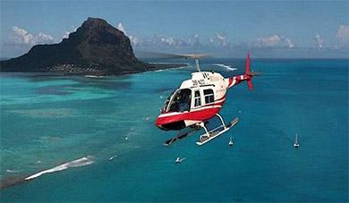 Полёт на вертолёте над Маврикием