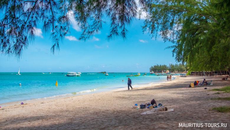Отдых на пляже Мон Шуази на Маврикии
